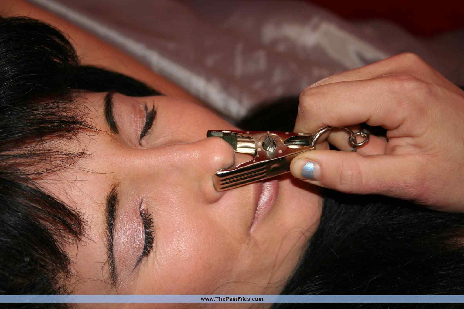 lesbian face humiliation and nose clamp torture