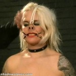 Busty amateur BDSM slave Cherrys nose hook bondage thumbnail 10